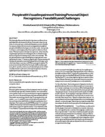 People with Visual Impairment Training Personal Object Recognizers: Feasibility and Challenges